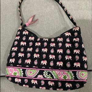 Vera Bradley Pink Elephant Molly Purse